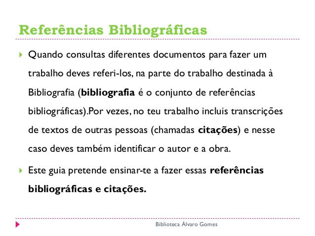 Como fazer referências bibliográficas
