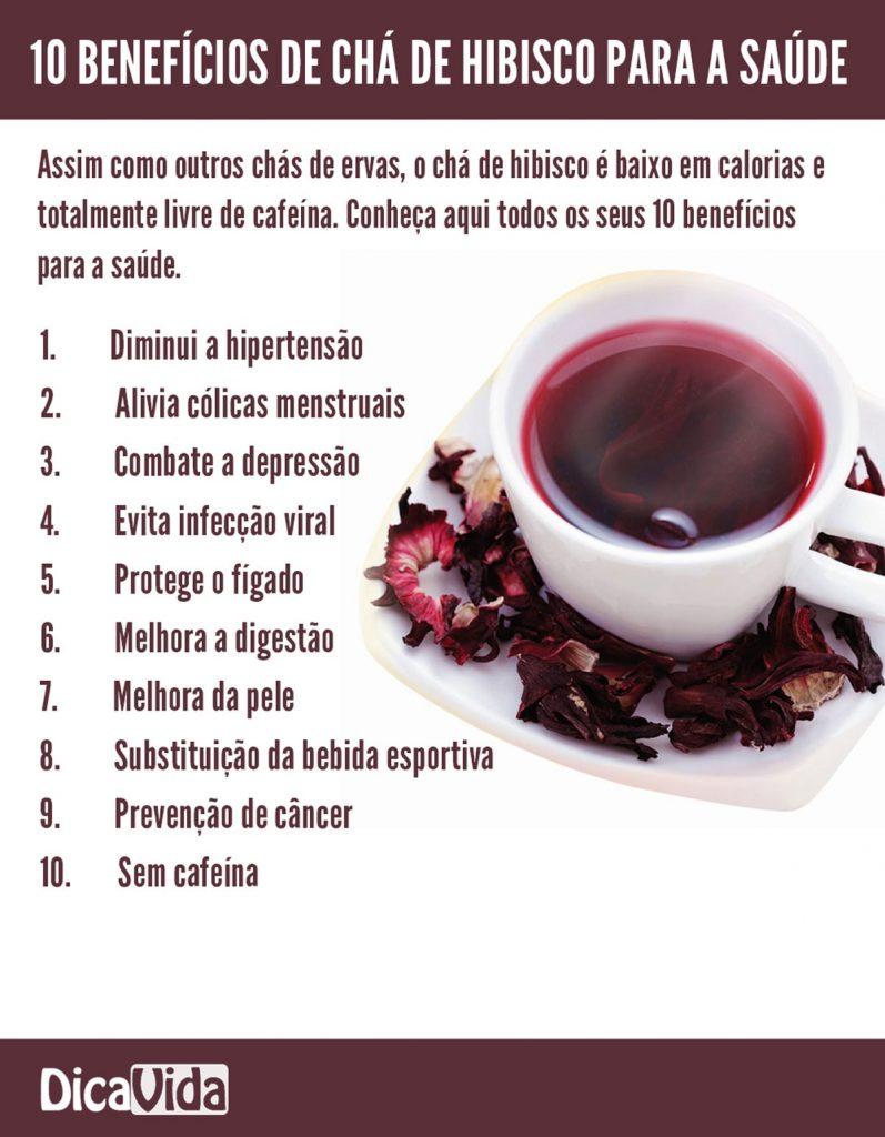 Propriedades do chá de hibisco